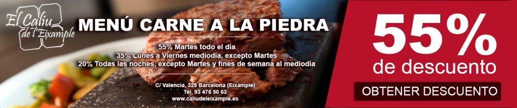 brasería barcelona carne a la piedra descuento